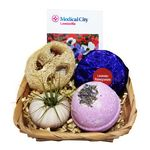 Lavender Spa Basket with Air Plant