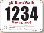Custom Pin On Race Number with 1 Custom Tag 7.5