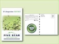 Winter Thyme Herb Seed Packet Postcard Mailer Size