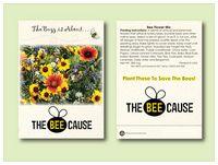 Bee Pollinator Flower Mixture Seed Packet