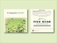 """Winter Thyme Seed Packet (3.25""""x 3.25"""")"""