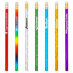 Custom Carnegie Round Foil Pencil