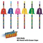 Custom PENCIL HEROES #2 Pencils w/ Caped Eraser