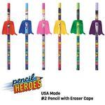 PENCIL HEROES™ #2 Pencils w/ Caped Eraser