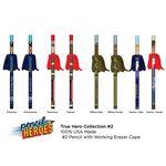 Custom PENCIL HEROES #2 Pencils w/ Caped Eraser - Hometown Heroes