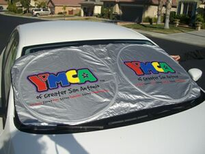 4-Color Process Collapsible Nylon 2-Spring Loop Auto Sun Shade - 531404C -  Swag Brokers b5cb11ad2a2