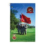 Custom Traveler's Microfiber Terry Golf Towels - Corner Hook Grommet (Edge to Edge Printed)