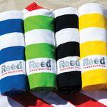 Microfiber Cabana Stripe Beach Towel (Embroidered)