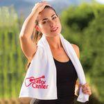 Custom Premium Fitness Towel (Color Towel, Tone on Tone)