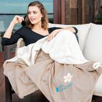 Custom Oversize Micro Mink Sherpa Throw (Embroidered)