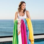 Custom Premium Velour Beach Towel (Color Towel, Tone on Tone)