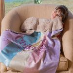 Custom Sherpa Lined Micro Mink Baby Blanket