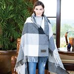 Yorkshire Plaid Wool Blanket (Leatherette Patch)