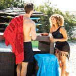 Custom Oversized Velour Terry Beach Towel (White Imprinted)