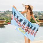 Custom Microfiber Velour Beach Towel (Edge to Edge Printed)
