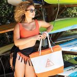 Custom Nautical Beach Bag (Screen Printed)