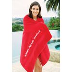 Custom King Size Terry Beach Towel (Color Imprinted)