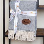 Custom Herringbone Wool Blanket