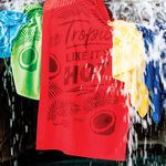 Custom Promotional Velour Terry Beach Towel (Color Embroidered)