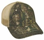 Custom 6 Panel Unstructured Camo Oil Stained Cap
