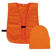 Blaze Orange Knit Cap & Vest Combo