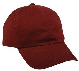 6 Panel Unstructured Brushed Cotton Cap