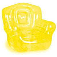 """Inflatable Chair, Yellow 41""""W x 38""""H x 35""""D"""