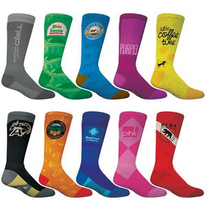 Adult Athletic Crew Sock- Full Color Exterior