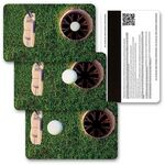 Custom 3D Lenticular Gift Card w/ Animated Golf Putt Images (Blank)