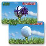 Custom 3D Lenticular Gift Card w/ Animated Golf Ball Images (Imprinted)