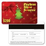 Custom 3D Lenticular Gift Card w/ Christmas Decorations Images (Imprinted)