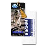 Custom PET Bookmark w/ 3D Effect Images of Astronaut on Moon (Imprinted)