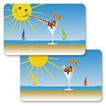Custom 3D Lenticular Gift Card w/ Flip Sun and Sundae Animation (Blank)