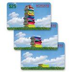 Custom 3D Lenticular Gift Card w/ Animated Stack of Books Image (Custom)