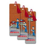 PET Bookmark w/ 3D Lenticular Images of An Animated Auto Body Shop (Blank)