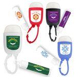 Custom Hand Sanitizer Gel Pocket Bottle & Lip Balm Combo