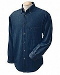 Lightweight Long Sleeve Men's Denim Shirt