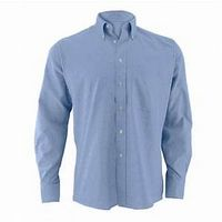 Men's CVC Oxford Long Sleeve Dress Shirt