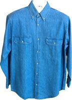 Heavyweight Long Sleeve Denim Shirt w/ 2 Chest Pockets