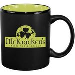 Custom 11 oz. Lime Green In / Matte Black Out Hilo C Handle Mug