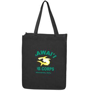 Canvas Jumbo Shopper Tote Bag w/Gusset