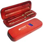 Rosewood Ballpoint and Roller Pens in 2 Piece Rosewood Gift Case