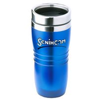 16 Oz. Blue Wavy Acrylic Tumbler w/ Stainless Steel Liner