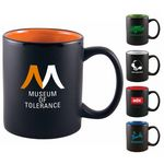Custom 11 Oz. Two-Tone Matted C-Handle Mug