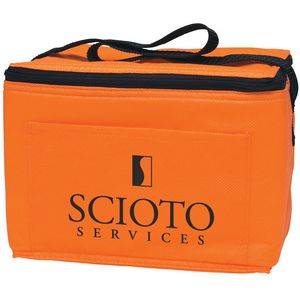 6 Pack Promotional Non-Woven Cooler Bag