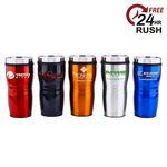 Custom 16 Oz. Wavy Travel Tumbler