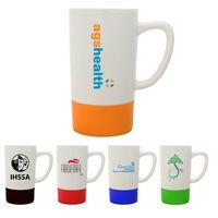18 Oz. Colorful Silicone Base Ceramic Mug