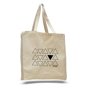 Canvas Shopper Tote with Gusset