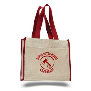 Canvas Gusset Tote Bag