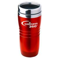16 Oz. Red Wavy Acrylic Tumbler w/ Stainless Steel Liner